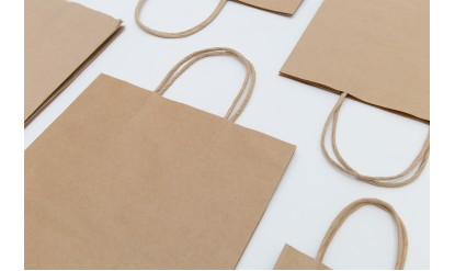 Ready-made Brown Kraft Paper Bags with Twisted Paper Handles