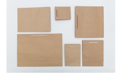Ready-made Brown Kraft Paper Bags With String Handles