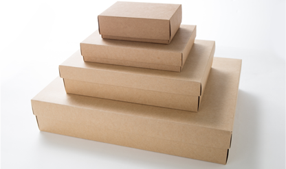 Ready-made Brown Kraft Gift Boxes